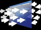 Internet concept website traffic — Stock Photo