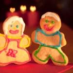 Two Christmas sugar cookies — Stock Photo #5558947