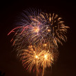 Stock Photo: Colorful firework display on July 4th