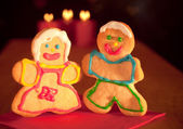 Two Christmas sugar cookies — Stock Photo
