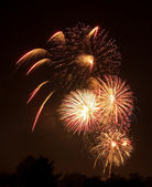 Firework display on July 4th — Stock Photo