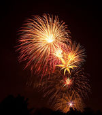 Showy and colorful fireworks — Stock Photo