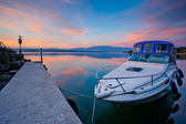 Boats at marina — Stock Photo