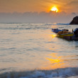 Malaysian Fishing Boats Sunrise — Stock Photo
