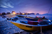 Malaysian Fishing Boats Sunset — Stock Photo