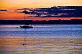 Sailboat Silhouette — Stock Photo