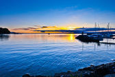 Sunrise in Lake Geneva — Stock Photo