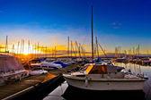 Sailboats and The Sun — Stock Photo