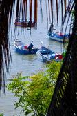 łodzie rybackie w malezji — Zdjęcie stockowe