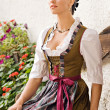 Bavarian girls in Holiday Costume - Stock Photo