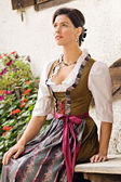 Bavarian girls in Holiday Costume — Stock Photo