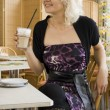 Woman in Cafe - Stock Photo