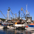 Fishing boats in the harbor of Male Losinj - Stock Photo