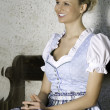 Lachende Bayerische Schnheit - Stock Photo