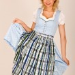 Bavarian beauty in costume - Stock Photo