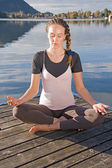 A mulher meditando — Fotografia Stock