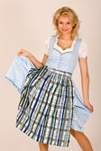 Bavarian beauty in costume — Stock Photo
