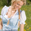 Bavarian beauty in the meadow — Stock Photo