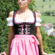 Stock Photo: Young womin dirndl