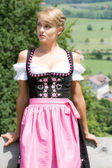 Young woman in a dirndl — Stock Photo