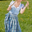 Happy Bavarian girl — Stock Photo