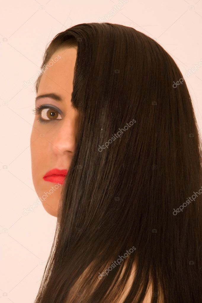 Portrait of a woman with a stylish  Stock Photo #6631932