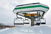 Ski lift station — Stock Photo