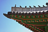 Roof of oriental royal palace — Stock Photo
