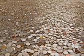 Many coins — Stock Photo