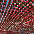 Red lanterns in buddhist temple for Buddha birthday celebration - Stok fotoraf