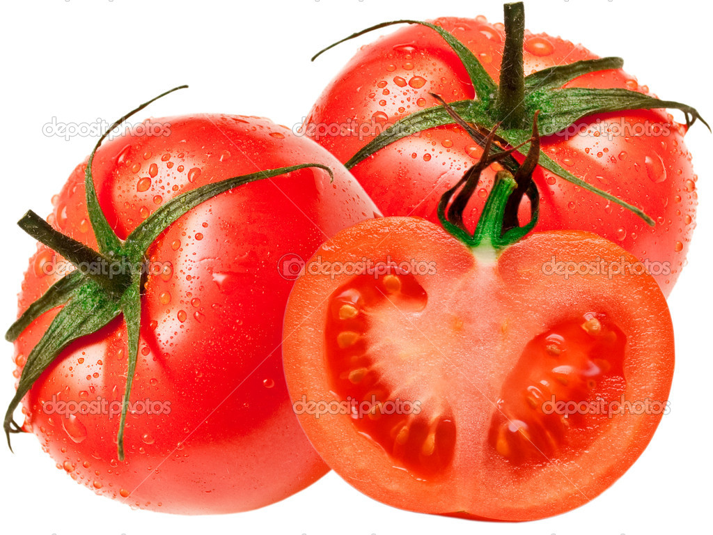 Tomato isolated on white background — Stock Photo #5608659