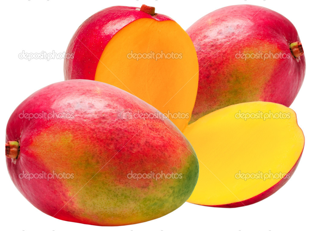 Mango isolated on white background  Stock Photo #5704132