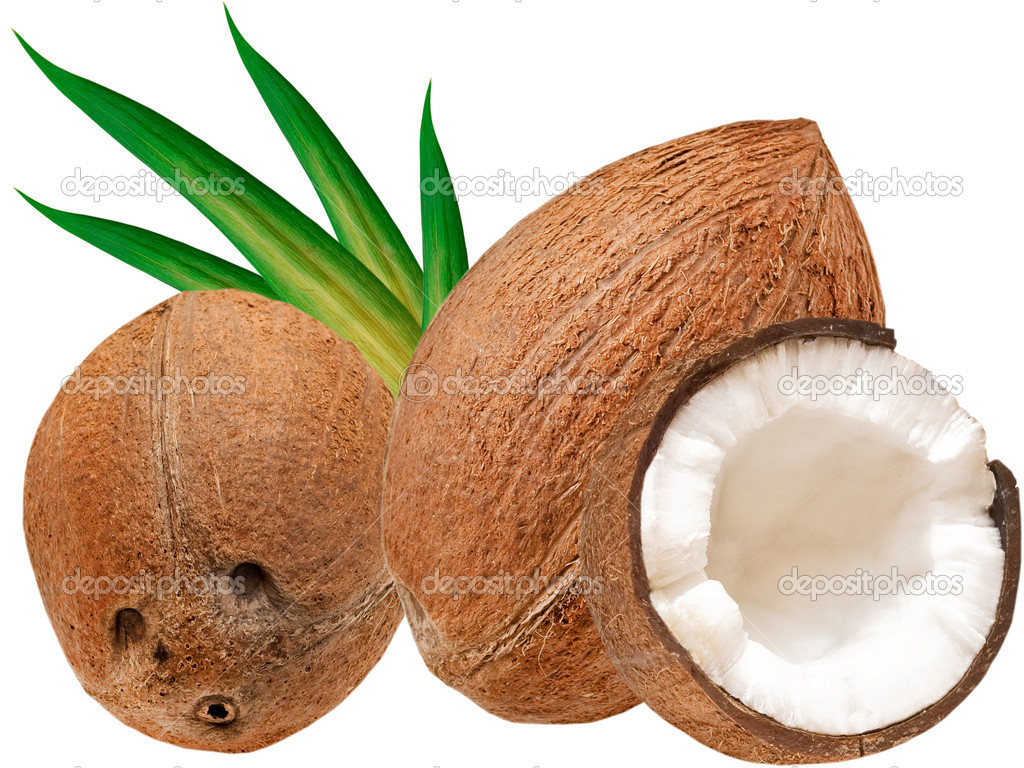 Coconut isolated on white background — Stock Photo #5824287