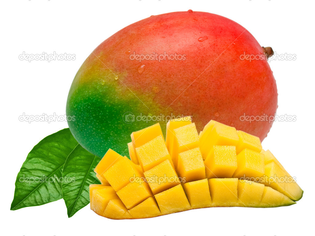 Mango isolated on white background — Stock Photo #6046225
