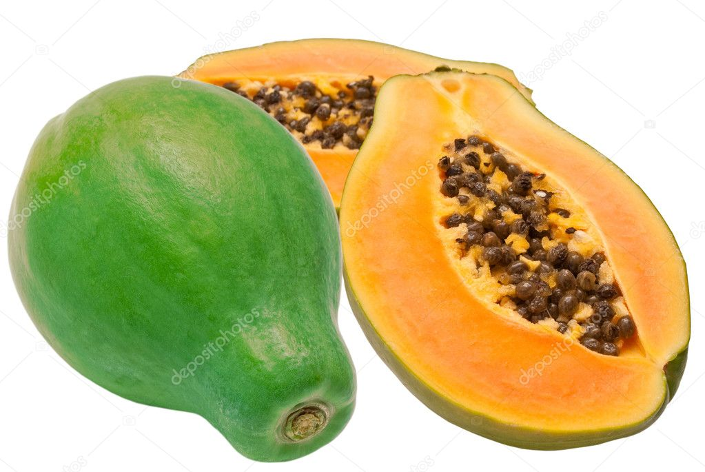 Papaya isolated on white background — Stock Photo #6117739