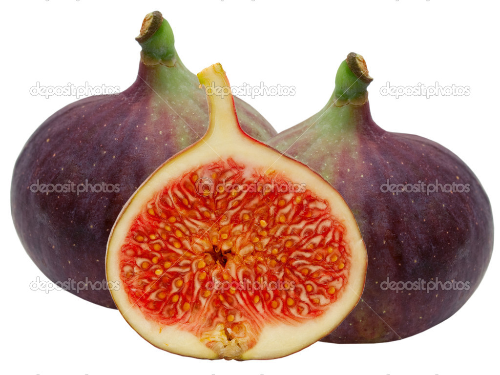 Fresh fig fruit isolated on white background — Stock Photo #6578284