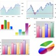 Stock Vector: 2D and 3D chart set