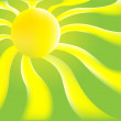 Stock Vector: Green Sun background