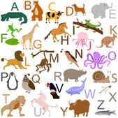 Animal alphabet — Stock Vector