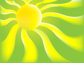 Green Sun background — 图库矢量图片