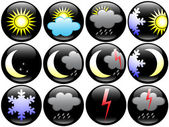 Four seasons weather icons — Stock Vector
