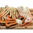 Crab Legs Isolated on White — Stock fotografie