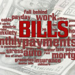 Bills Word Cloud — Stock Photo
