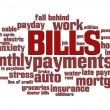 Bills Word Cloud — Stok Fotoğraf #5612383
