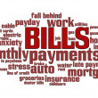 Stockfoto: Bills Word Cloud