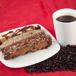 Foto de Stock  : Coffee and Biscotti