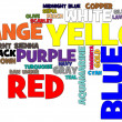 Colors Word Cloud - Lizenzfreies Foto