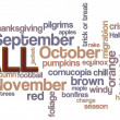 Fall Word Cloud — Lizenzfreies Foto