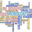 Fitness word cloud — Stock fotografie