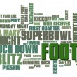 Football Word Cloud — Zdjęcie stockowe #5612484